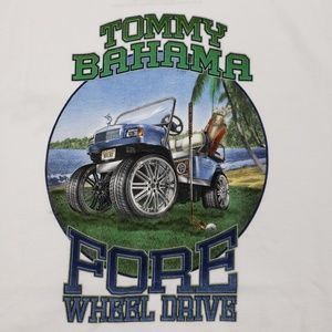 Tommy Bahama  Graphic T-Shirt Fore Wheel Drive New